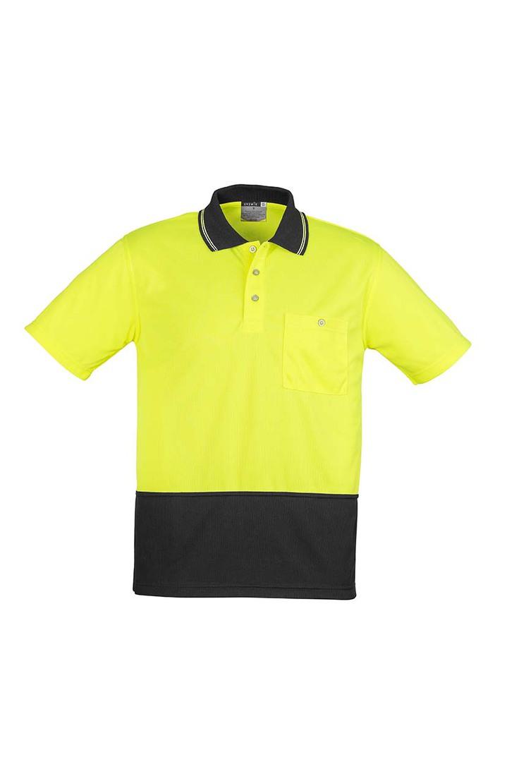 ZH231 Unisex Hi Vis Basic Spliced Polo - Short Sleeve image 6
