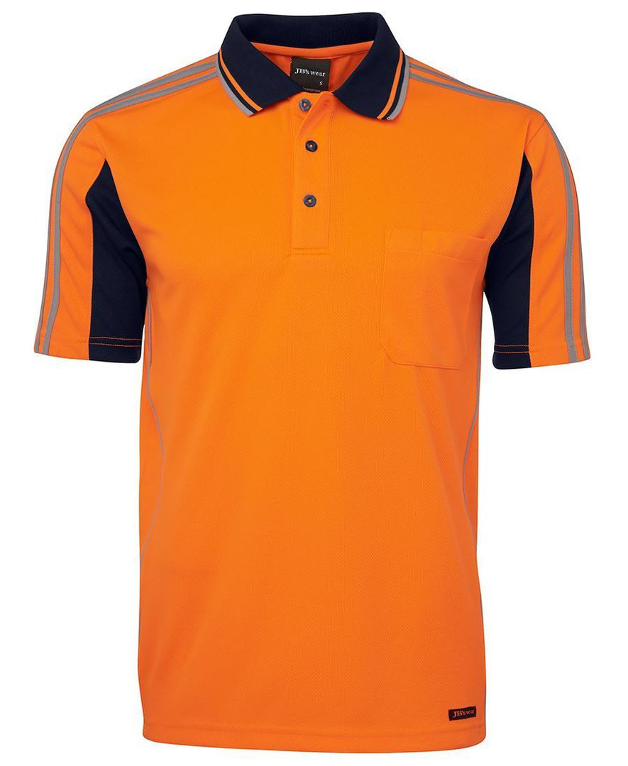 6AT4S Hi Vis S/S Arm Tape Polo image 0