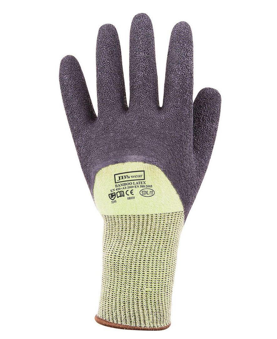 BAMBOO LATEX CRINKLE 3/4 DIPPED GLOVE (12 PACK) 8R025 Bamboo Quality image 0