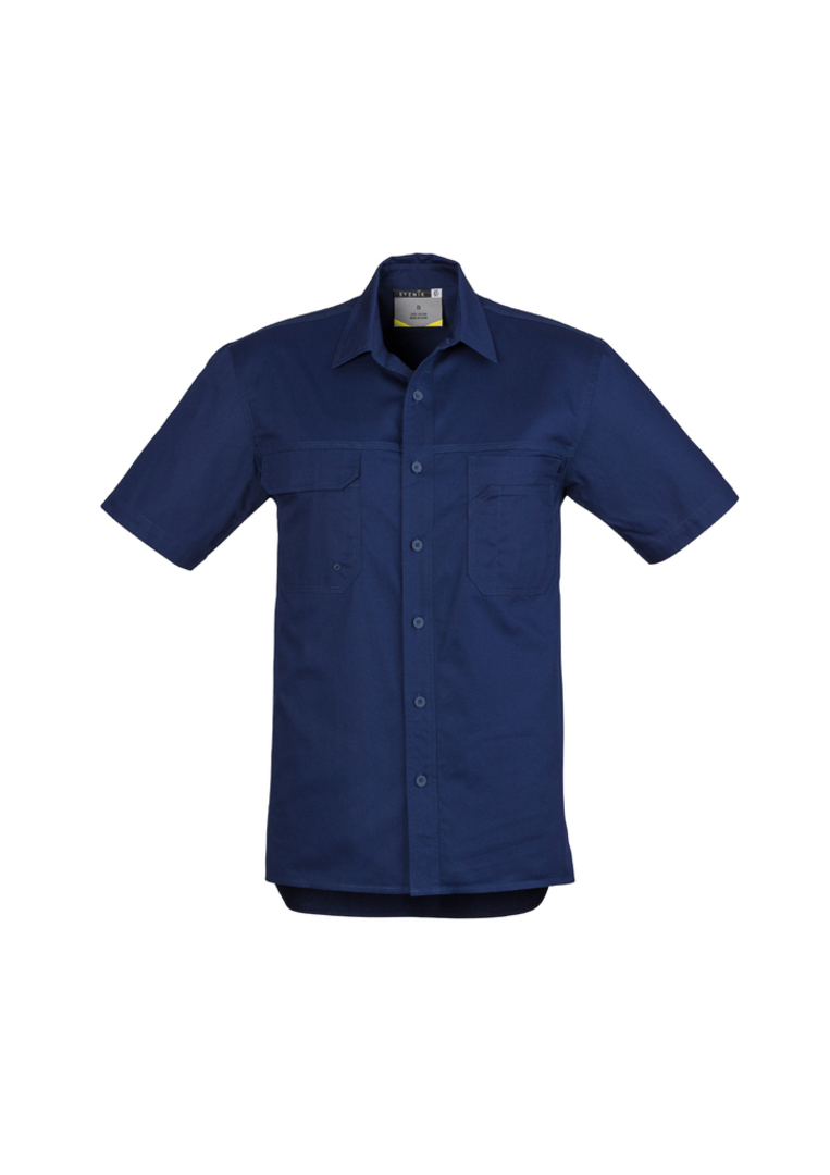 ZW120 Mens Light Weight Tradie Shirt - Short Sleeve image 2