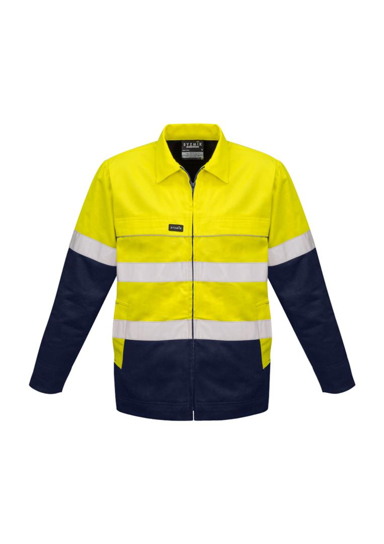 ZJ590 Mens Hi Vis Cotton Drill Jacket image 2
