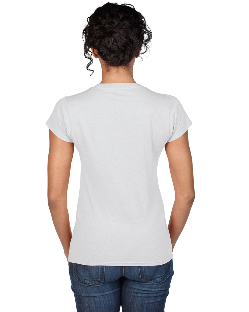 Softstyle® Fitted Ladies' V-Neck T-Shirt image 1
