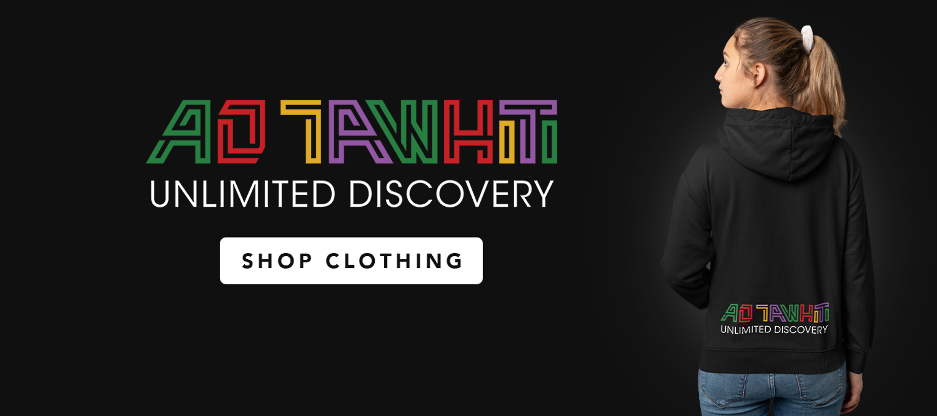 Ao Tawhiti Clothing with girl in hoodie