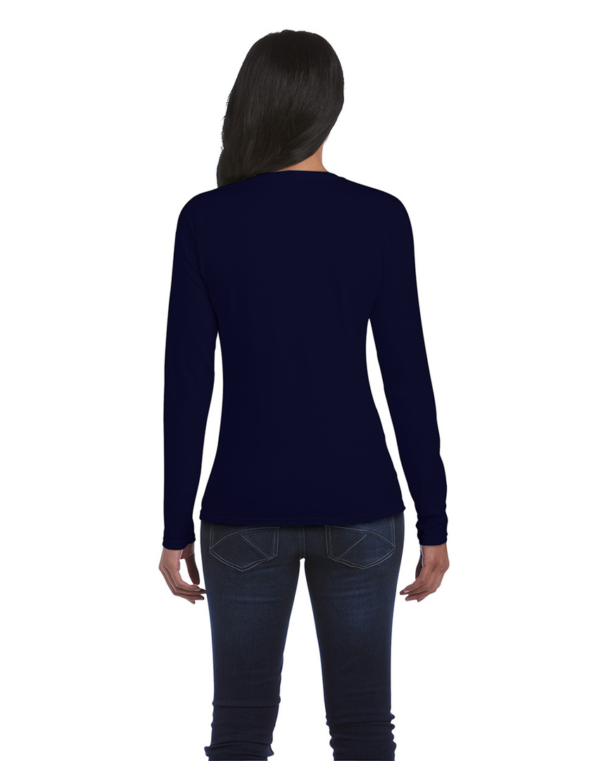 Softstyle® Fitted Ladies' Long Sleeve T-Shirt image 3
