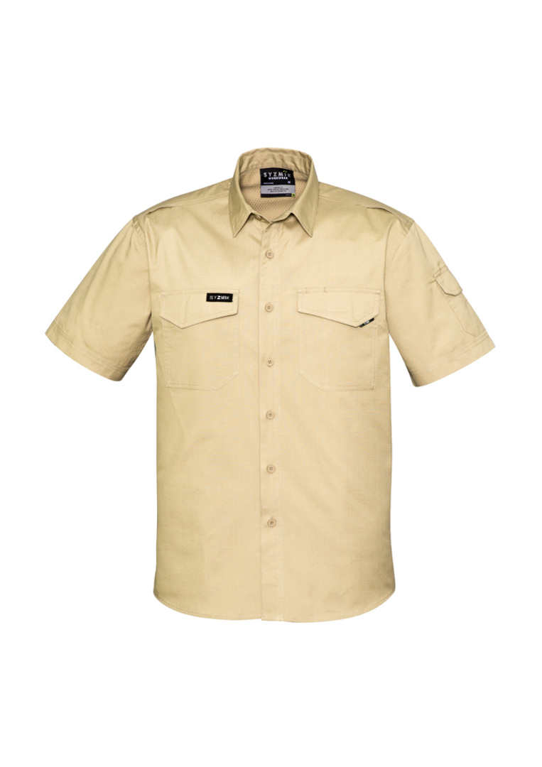 ZW405 Mens Rugged Cooling Mens S/S Shirt image 4