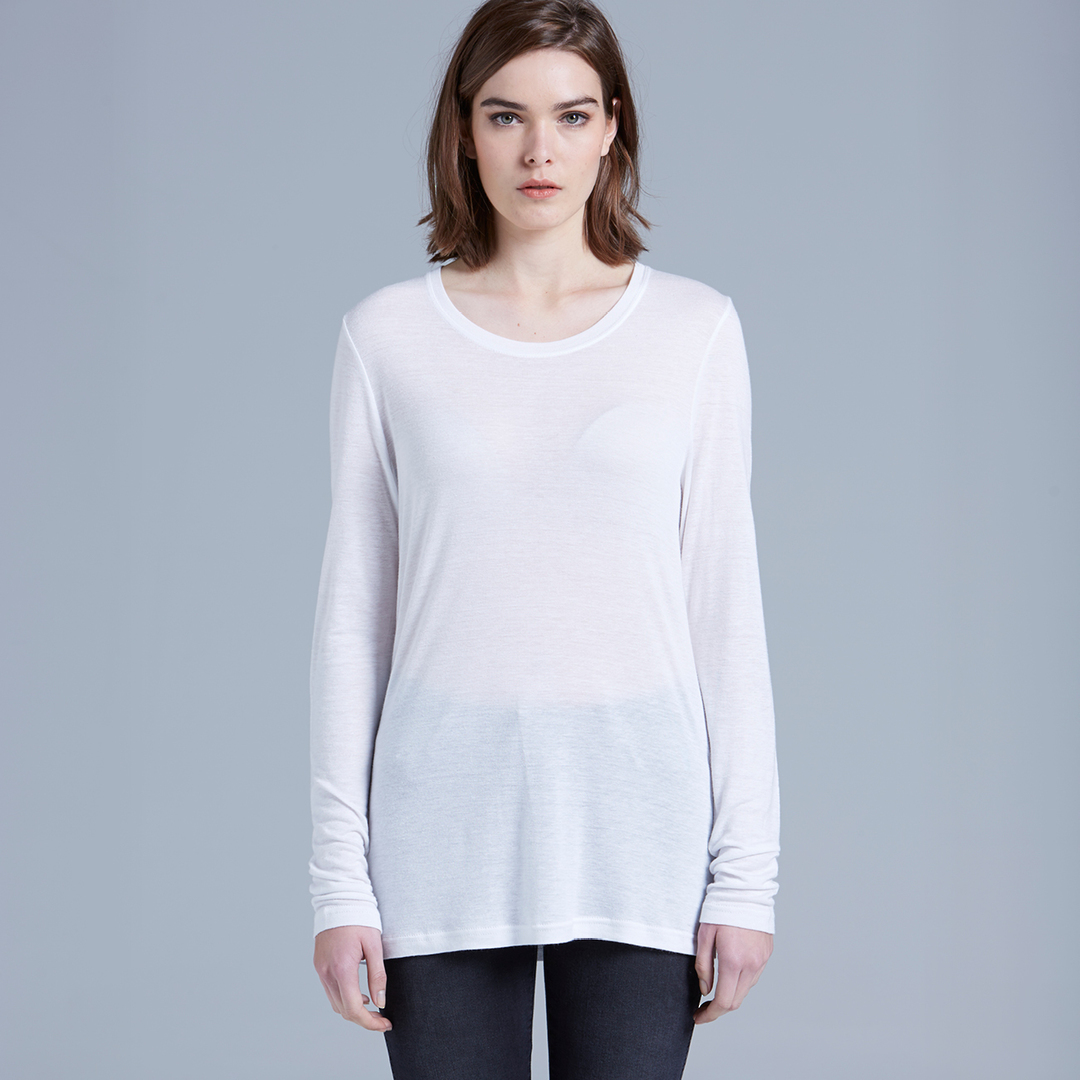 4026 FINE LONG SLEEVE TEE image 0