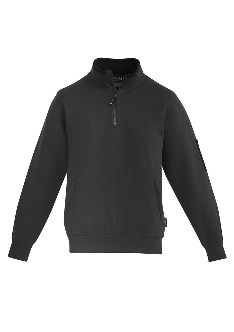 MENS 1/4 ZIP BRUSHED FLEECE image 3