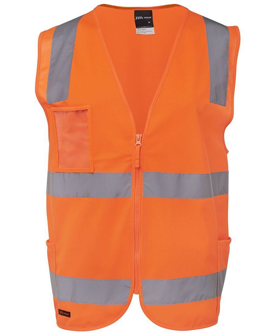 6DNSZ Hi Vis (D+N) Zip Safety Vest image 4
