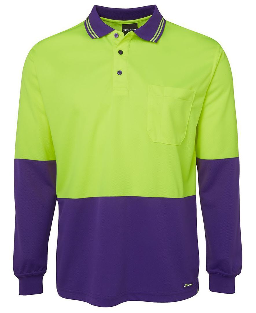 6HVPL Hi Vis L/S Traditional Polo image 5