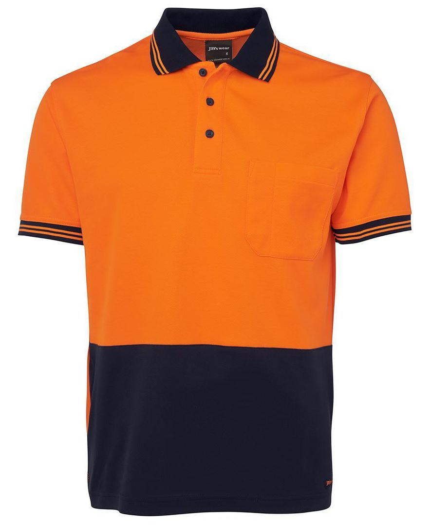 6HPS Hi Vis S/S Cotton Back Polo image 5