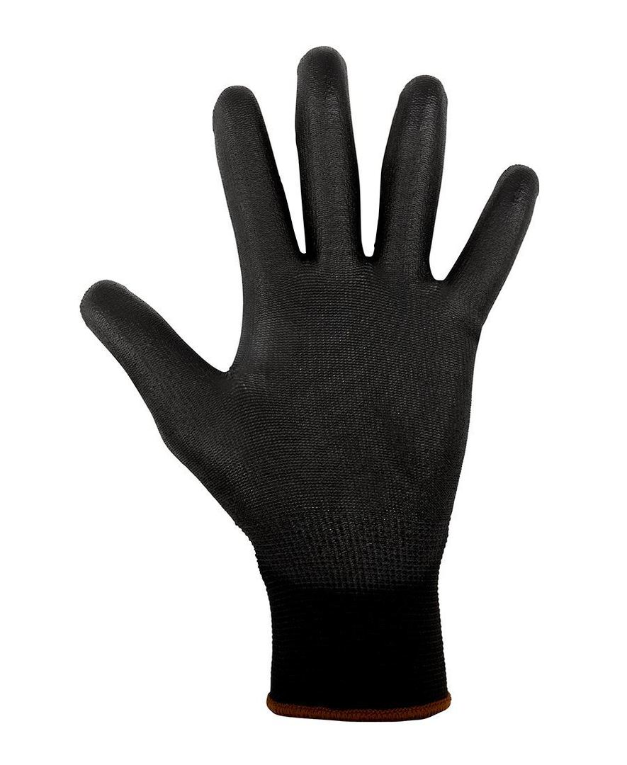 BLACK LIGHT PU BREATHABLE GLOVE (12 PACK) 8R004 LIGHT PU GLOVE image 1