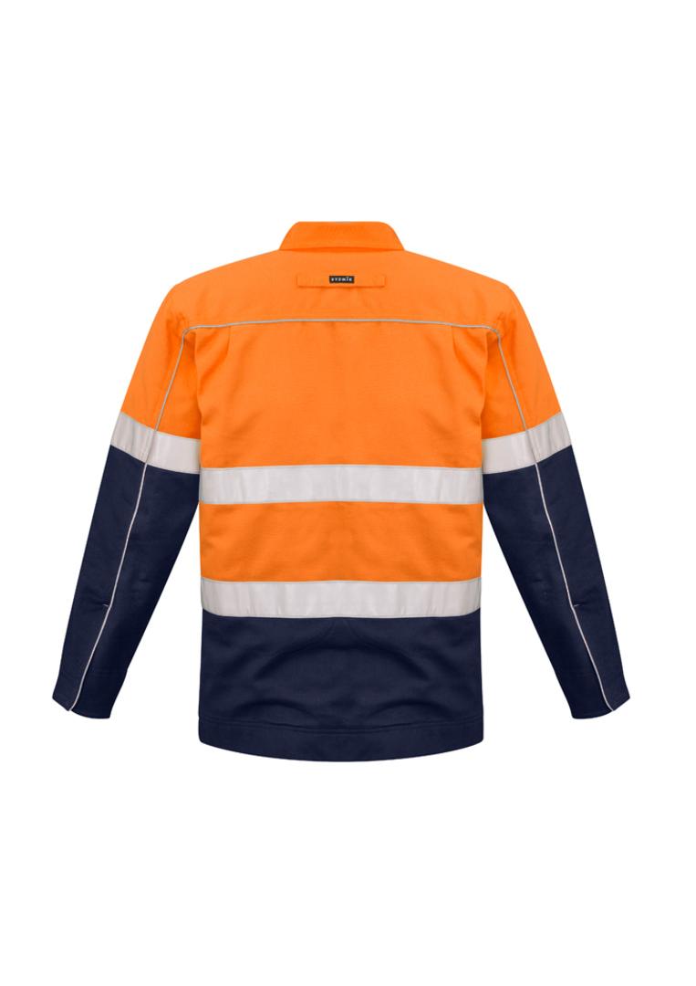 ZJ590 Mens Hi Vis Cotton Drill Jacket image 1