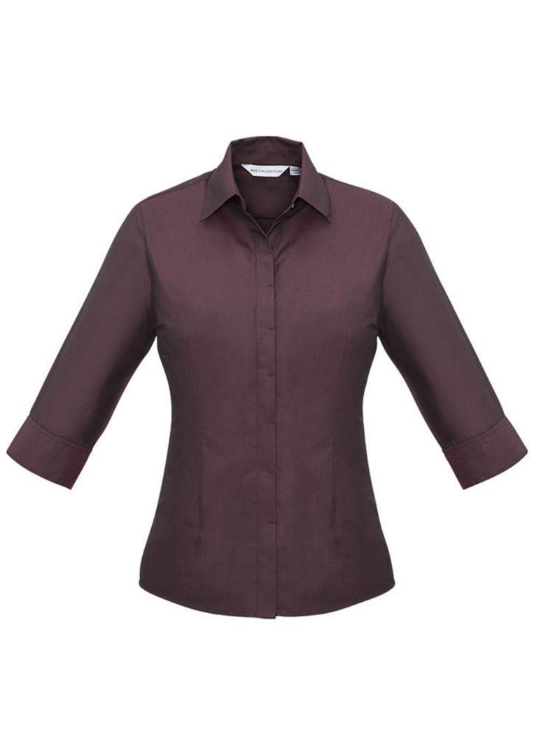 Ladies Hemingway 3/4 Sleeve Shirt image 2