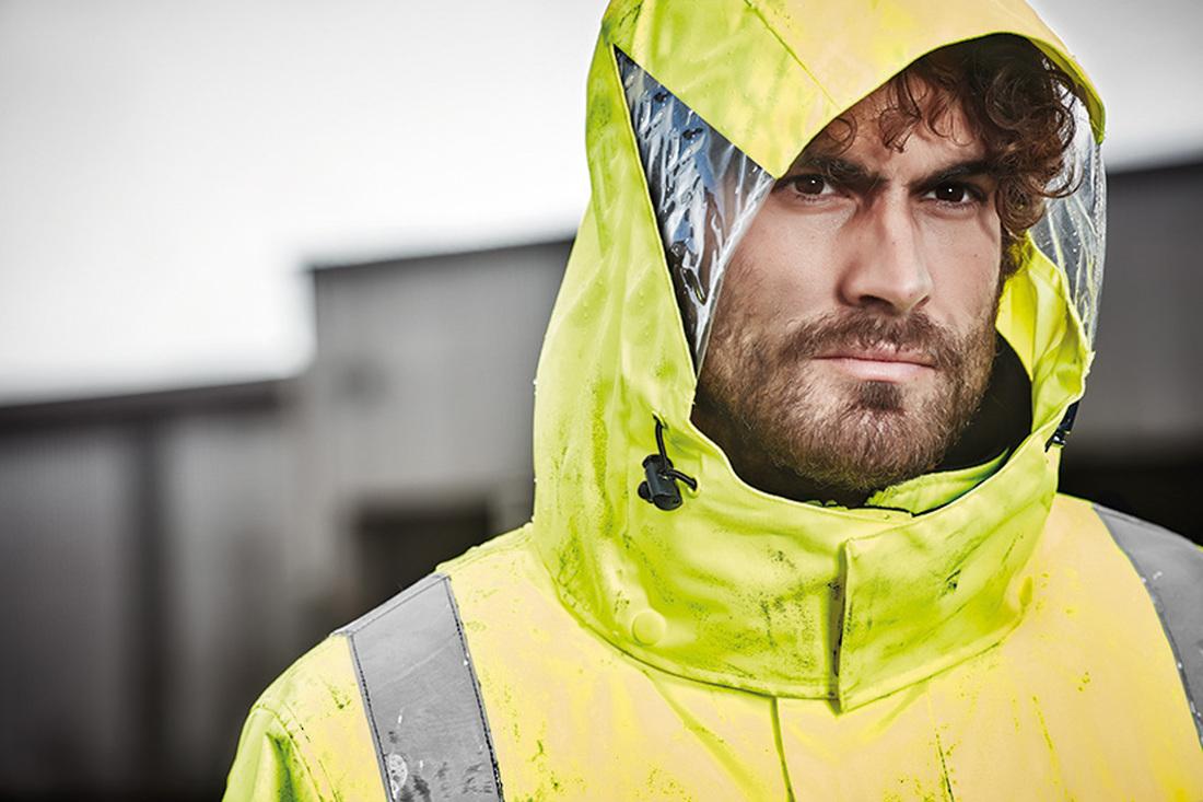 ZJ530 Mens Hi Vis 4 in 1 Waterproof Jacket image 1