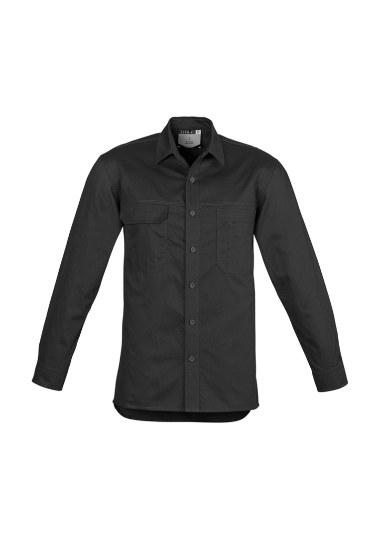 ZW121 Mens Lightweight Tradie Shirt - Long Sleeve image 1