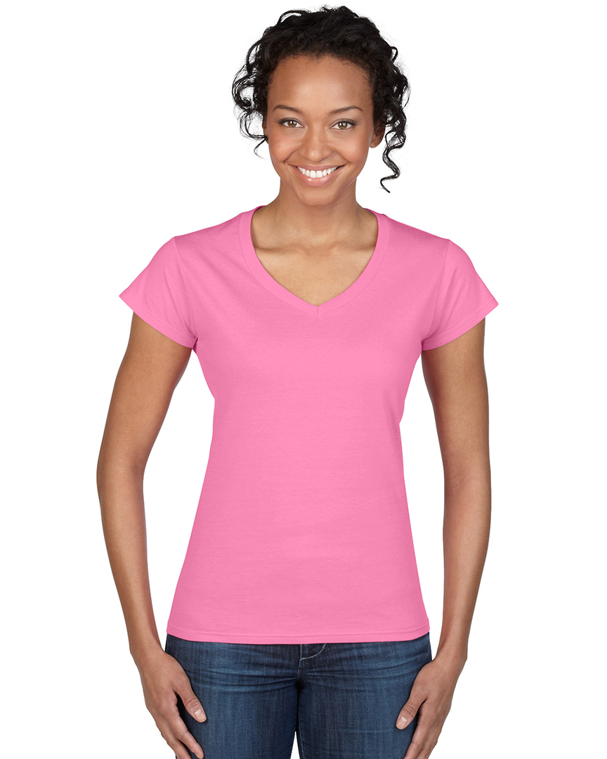 Softstyle® Fitted Ladies' V-Neck T-Shirt image 6