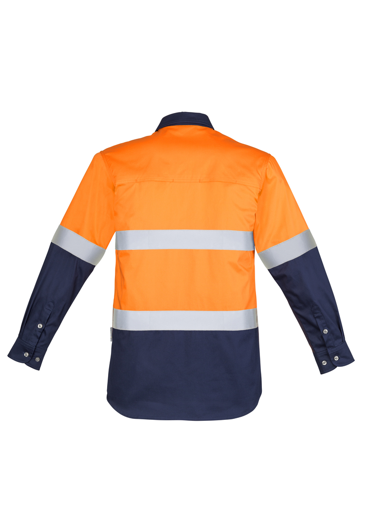 ZW123 Mens Hi Vis Spliced Industrial Shirt - Hoop Taped image 5