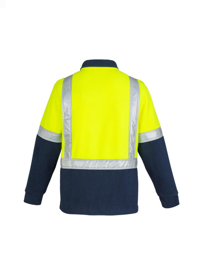 ZT462 Mens Hi Vis Fleece Jumper - Shoulder Taped image 3