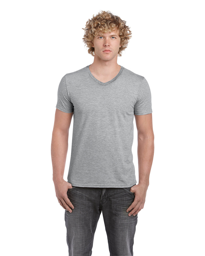 Softstyle® Euro Fit Adult V-Neck T-Shirt image 6