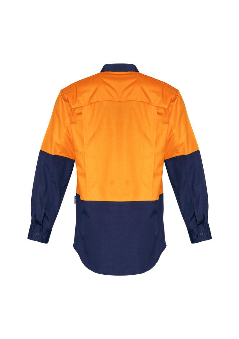 ZW128 Mens Rugged Cooling Hi Vis Spliced L/S Shirt image 5