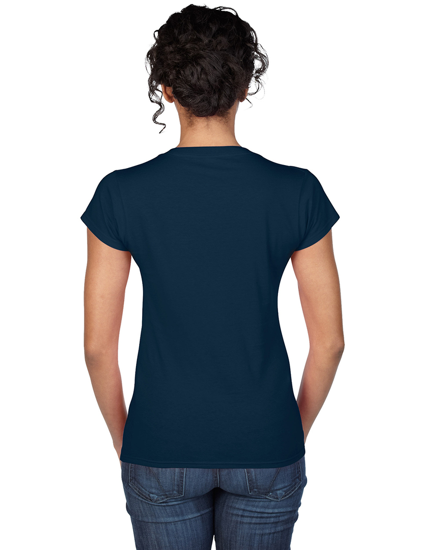 Softstyle® Fitted Ladies' V-Neck T-Shirt image 3
