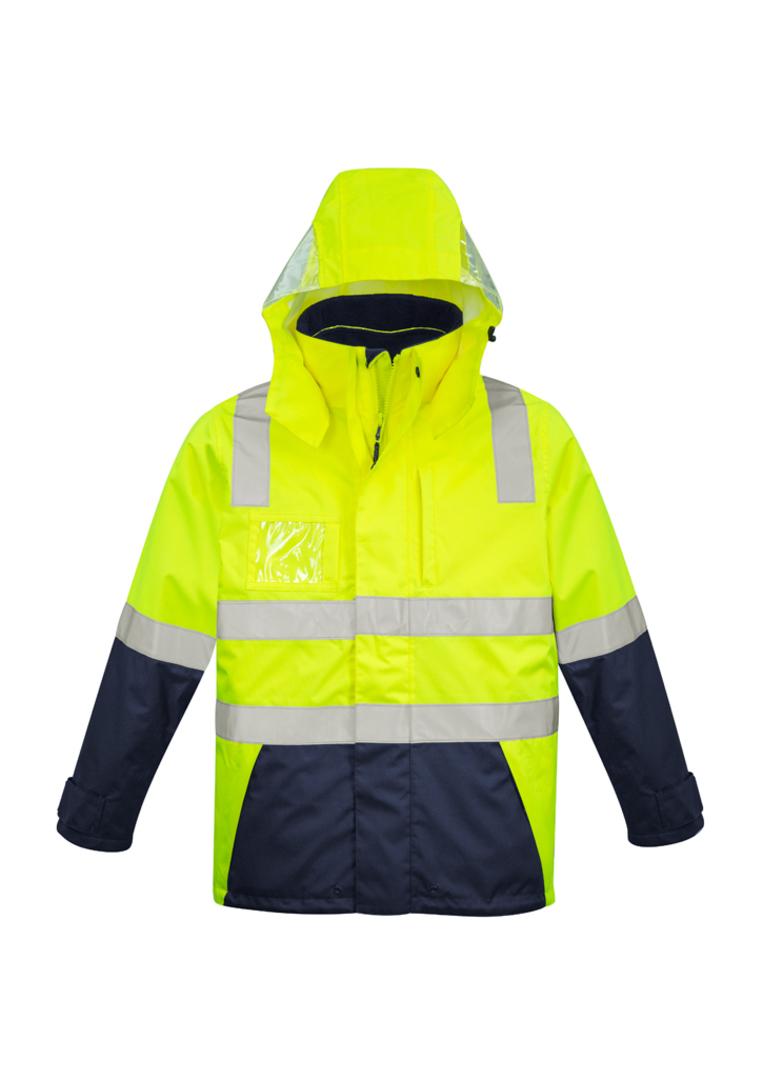 ZJ530 Mens Hi Vis 4 in 1 Waterproof Jacket image 3