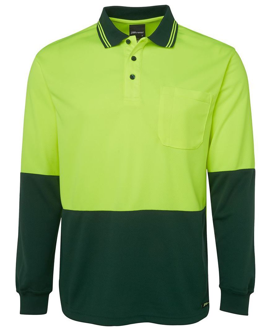 6HVPL Hi Vis L/S Traditional Polo image 4