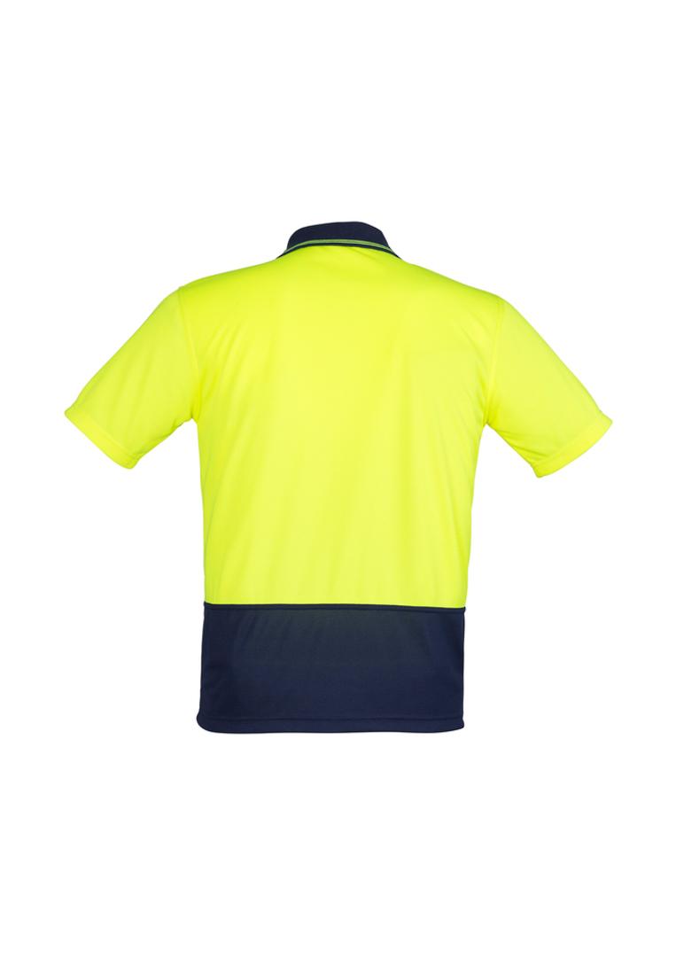 ZH231 Unisex Hi Vis Basic Spliced Polo - Short Sleeve image 3
