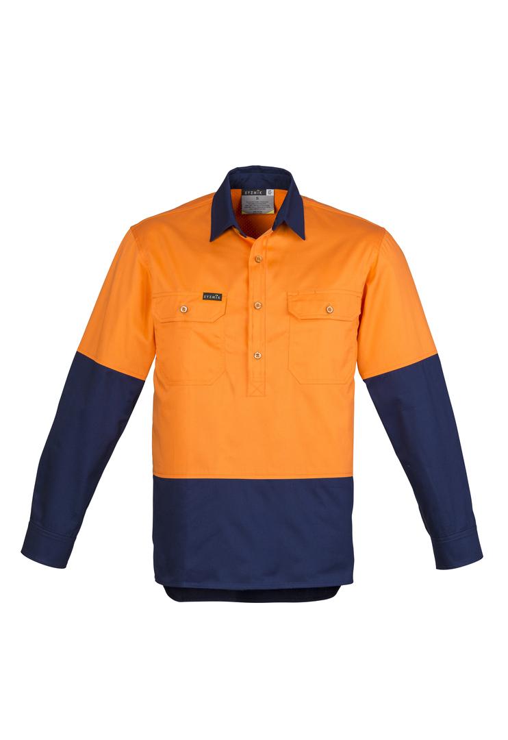 ZW560 Mens Hi Vis Closed Front L/S Shirt image 2