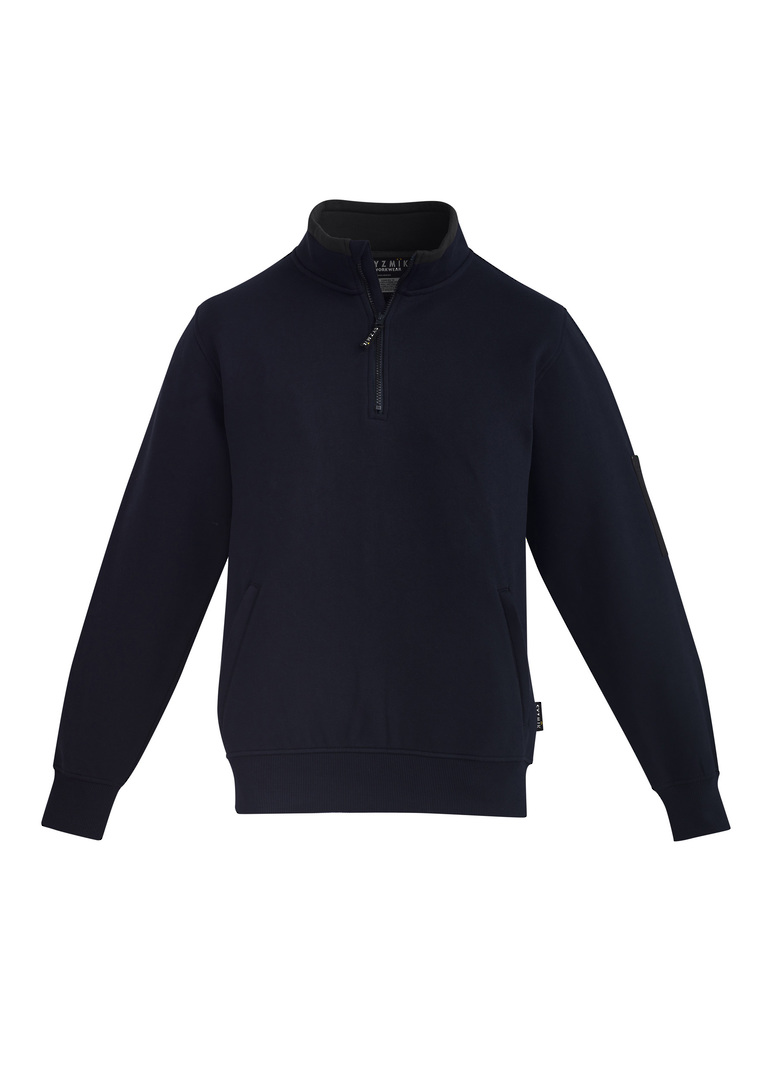 MENS 1/4 ZIP BRUSHED FLEECE image 5