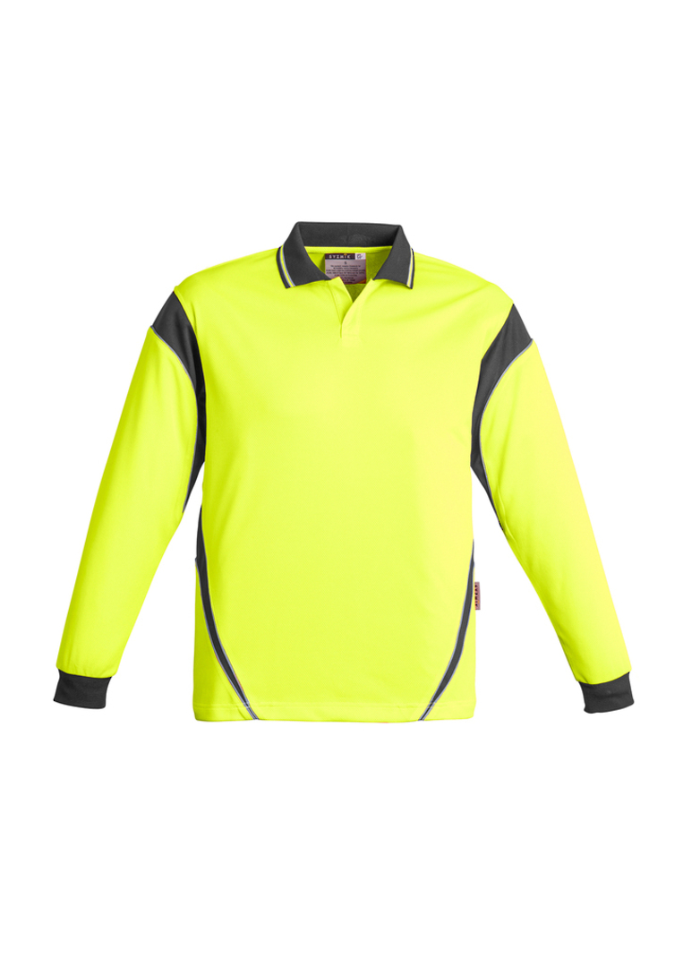 ZH249 Mens Hi Vis Aztec Polo - Long Sleeve image 4