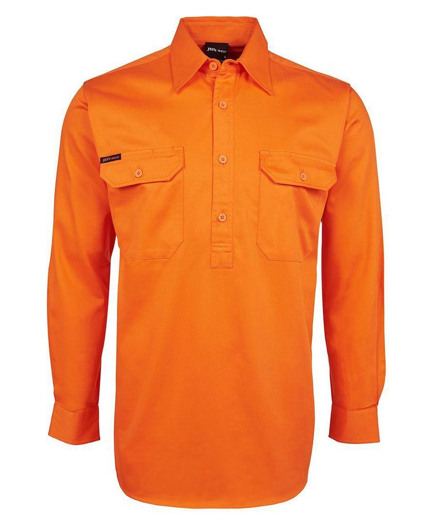 6HVCF Hi Vis L/S 190g Close Front Shirt image 0