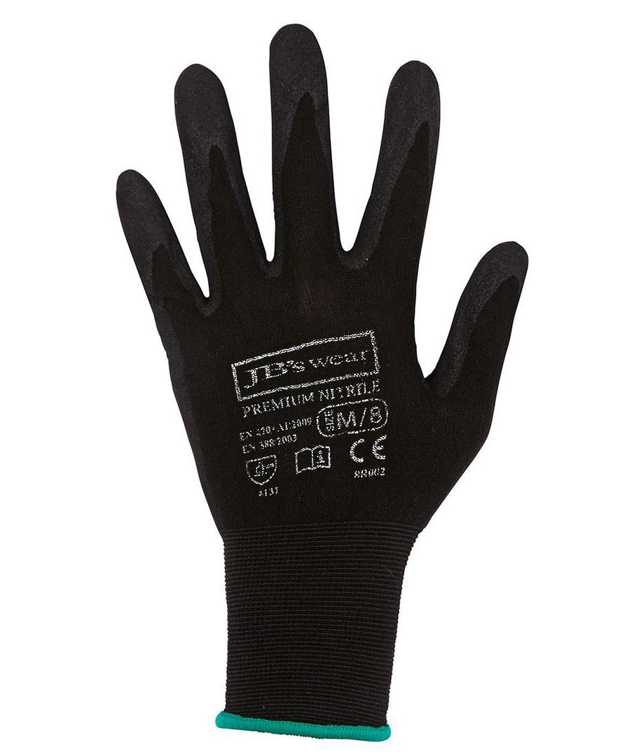 PREMIUM BLACK NITRILE BREATHABLE GLOVE (12 PACK) 8R002 image 0