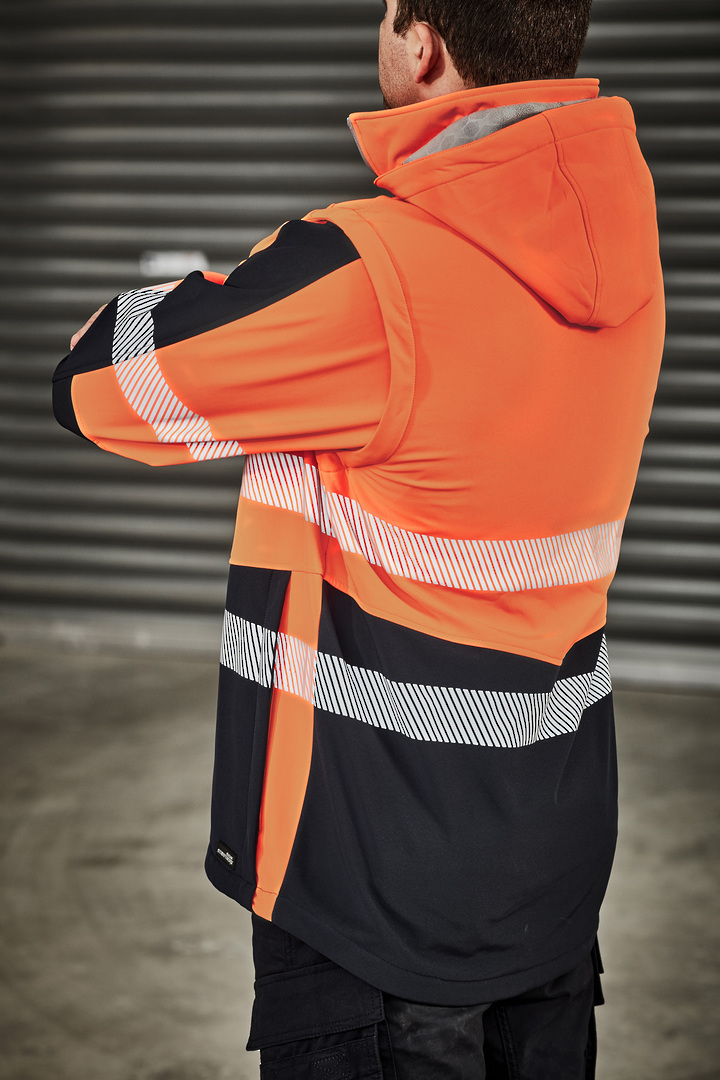 UNISEX 2 IN 1 STRETCH SOFTSHELL TAPED JACKET image 2
