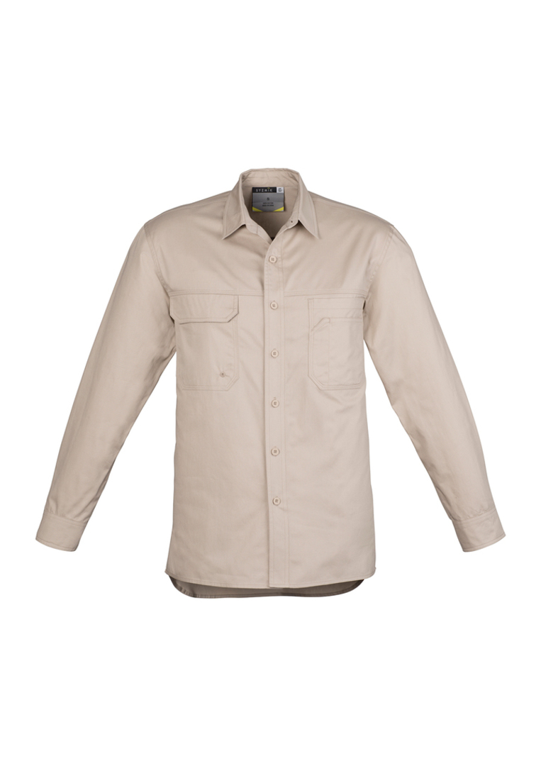 ZW121 Mens Lightweight Tradie Shirt - Long Sleeve image 7