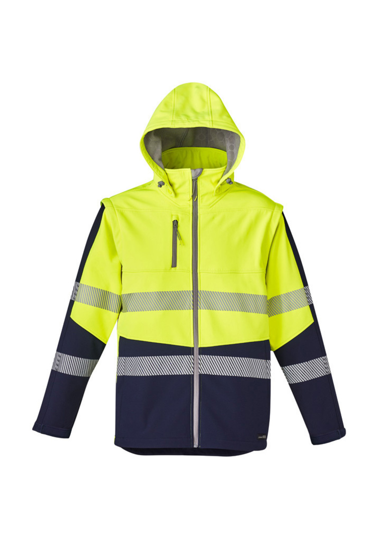 UNISEX 2 IN 1 STRETCH SOFTSHELL TAPED JACKET image 7