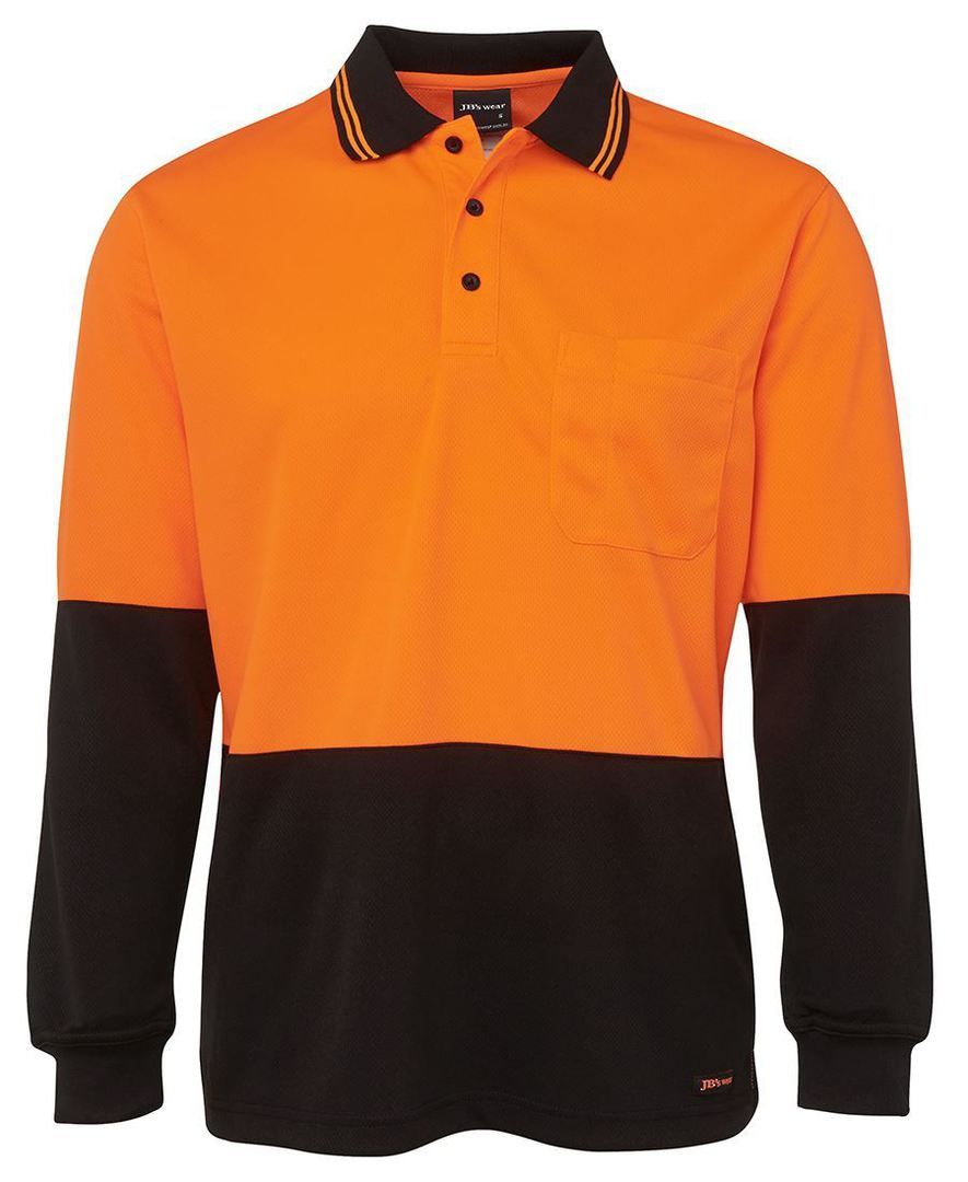 6HVPL Hi Vis L/S Traditional Polo image 7