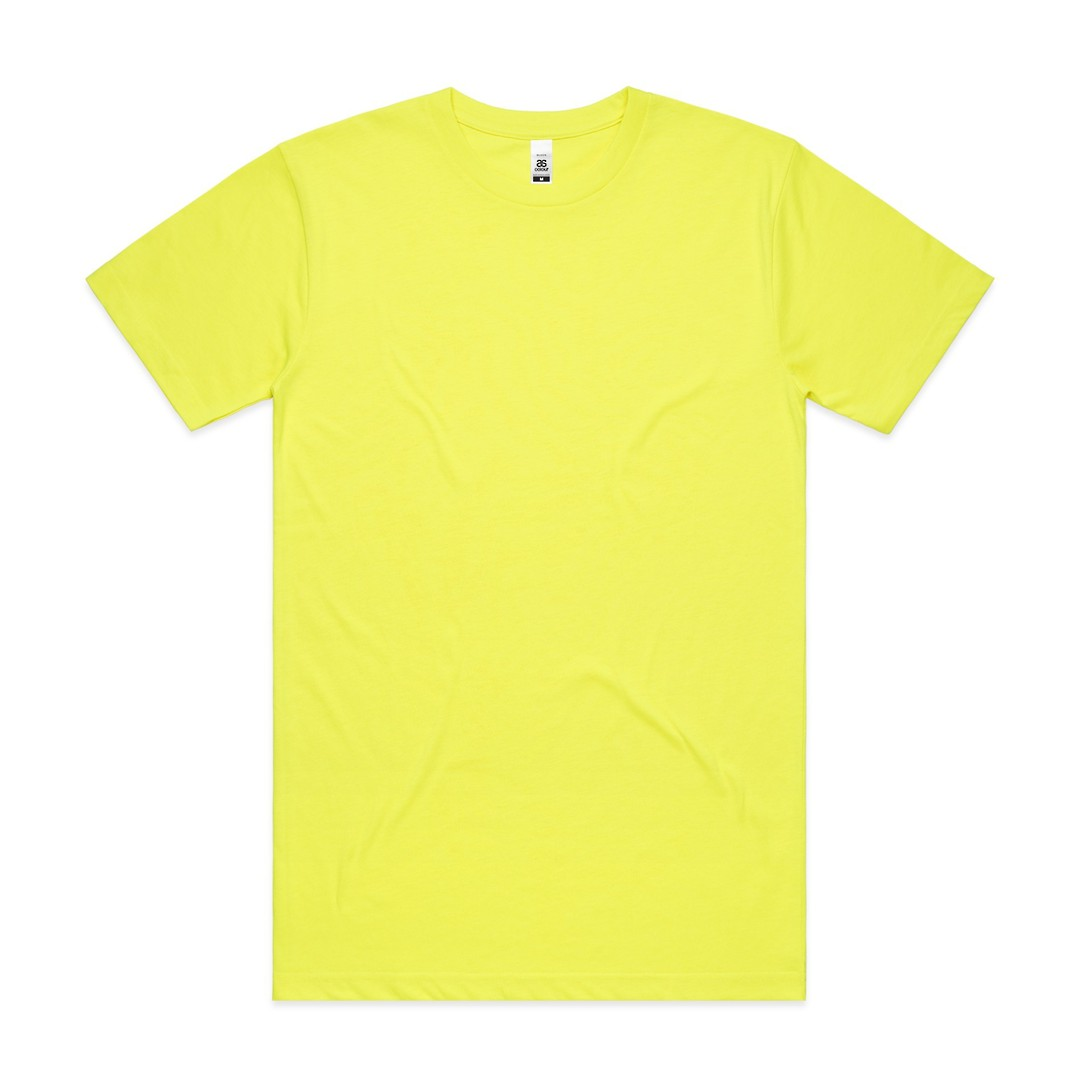 5050F - Mens Block Tee (Safety Colours) image 2
