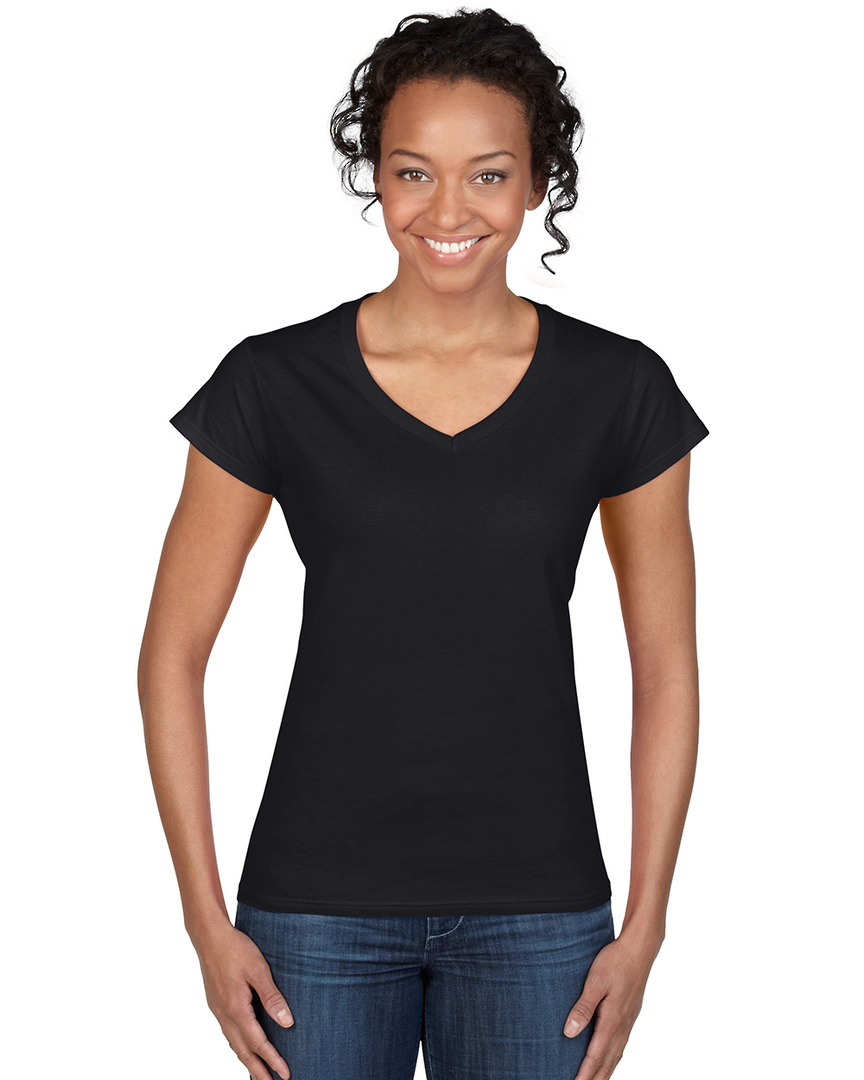 Softstyle® Fitted Ladies' V-Neck T-Shirt image 4