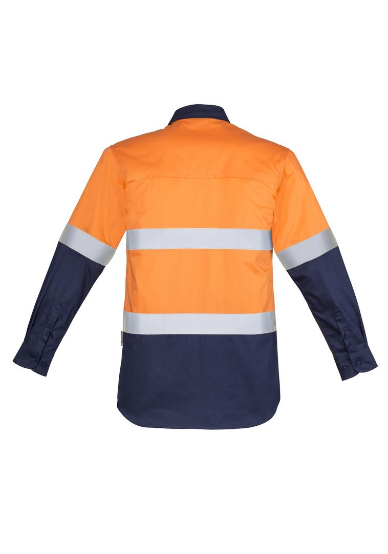 ZW550 Mens Hi Vis Closed Front L/S Shirt - Hoop Taped image 3