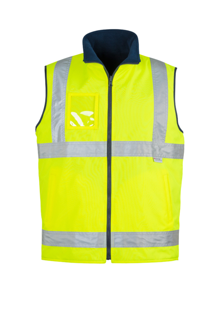 ZV358 Mens Hi Vis Lightweight Fleece Lined Vest image 3