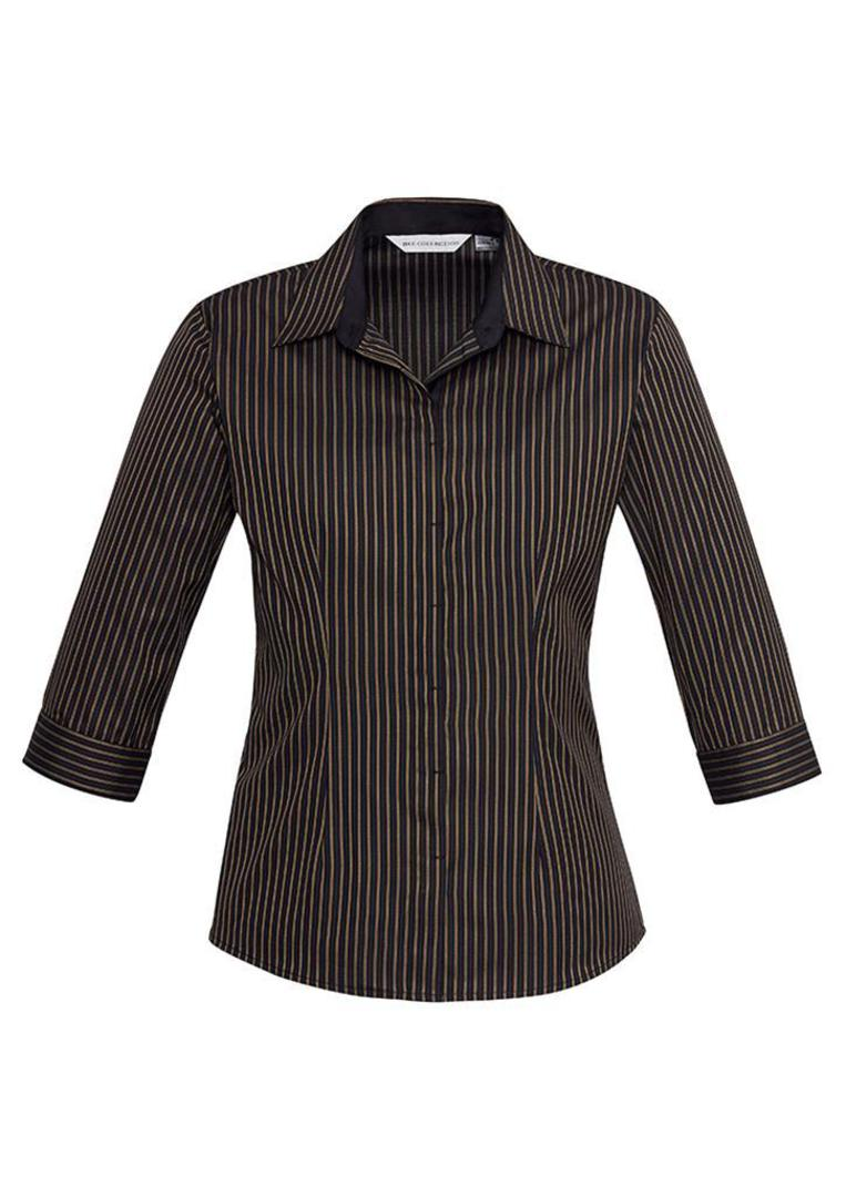 Ladies Reno Stripe 3/4 Sleeve Shirt image 1