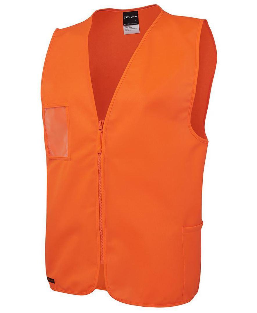 6HVSZ Hi Vis Zip Safety Vest image 2