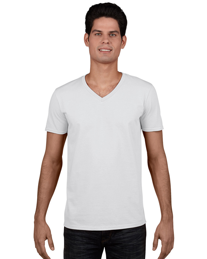 Softstyle® Euro Fit Adult V-Neck T-Shirt image 0