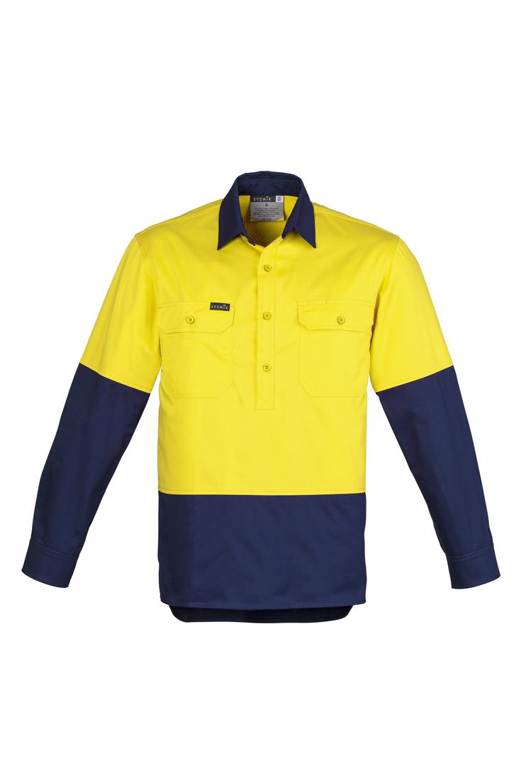 ZW560 Mens Hi Vis Closed Front L/S Shirt image 0