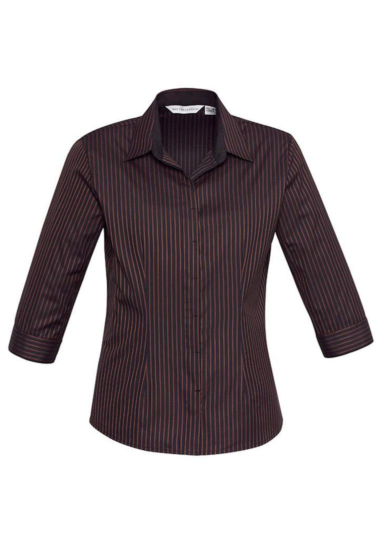 Ladies Reno Stripe 3/4 Sleeve Shirt image 2