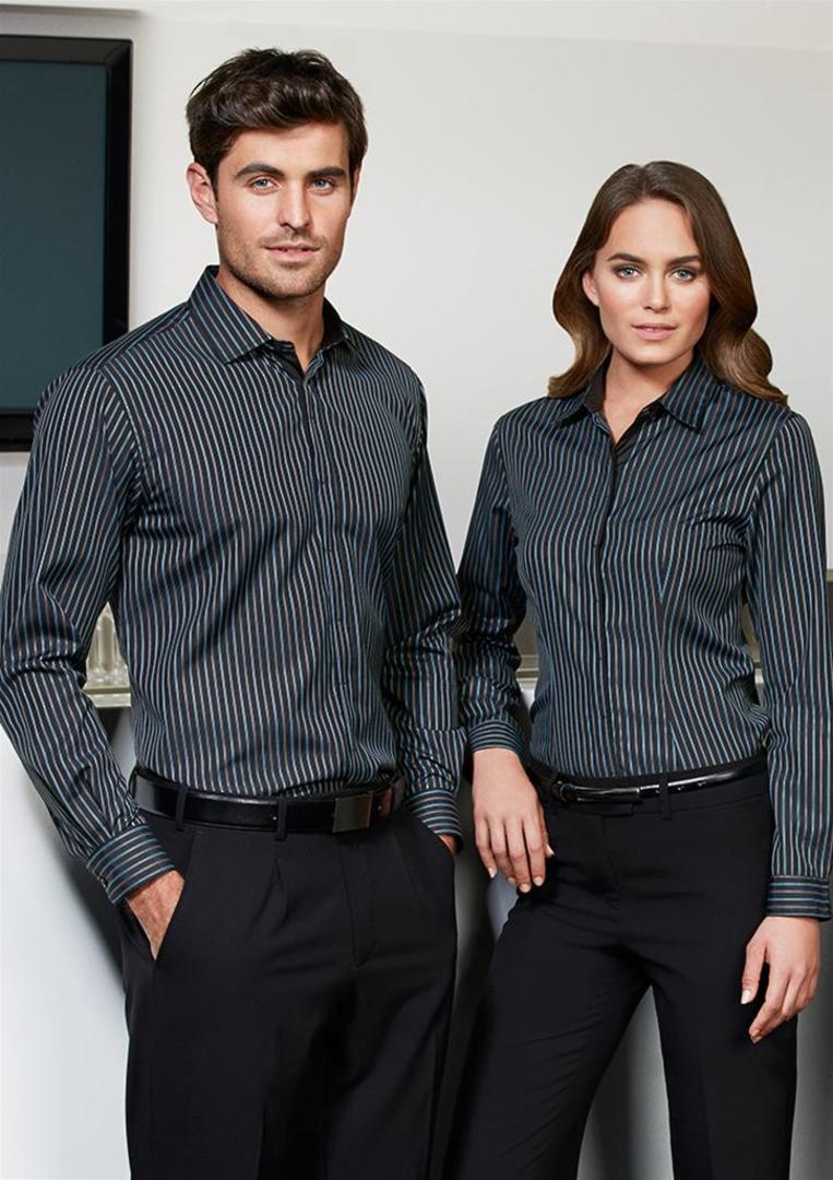 Ladies Reno Stripe Long Sleeve Shirt image 0