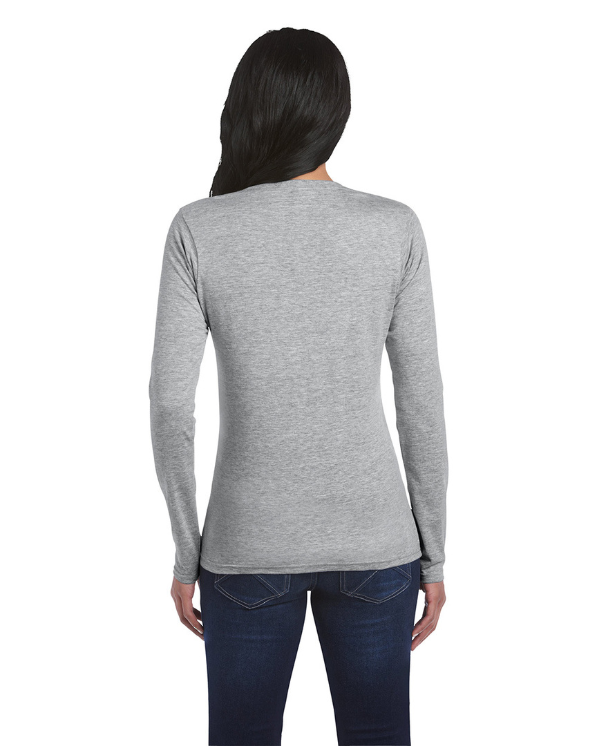 Softstyle® Fitted Ladies' Long Sleeve T-Shirt image 6