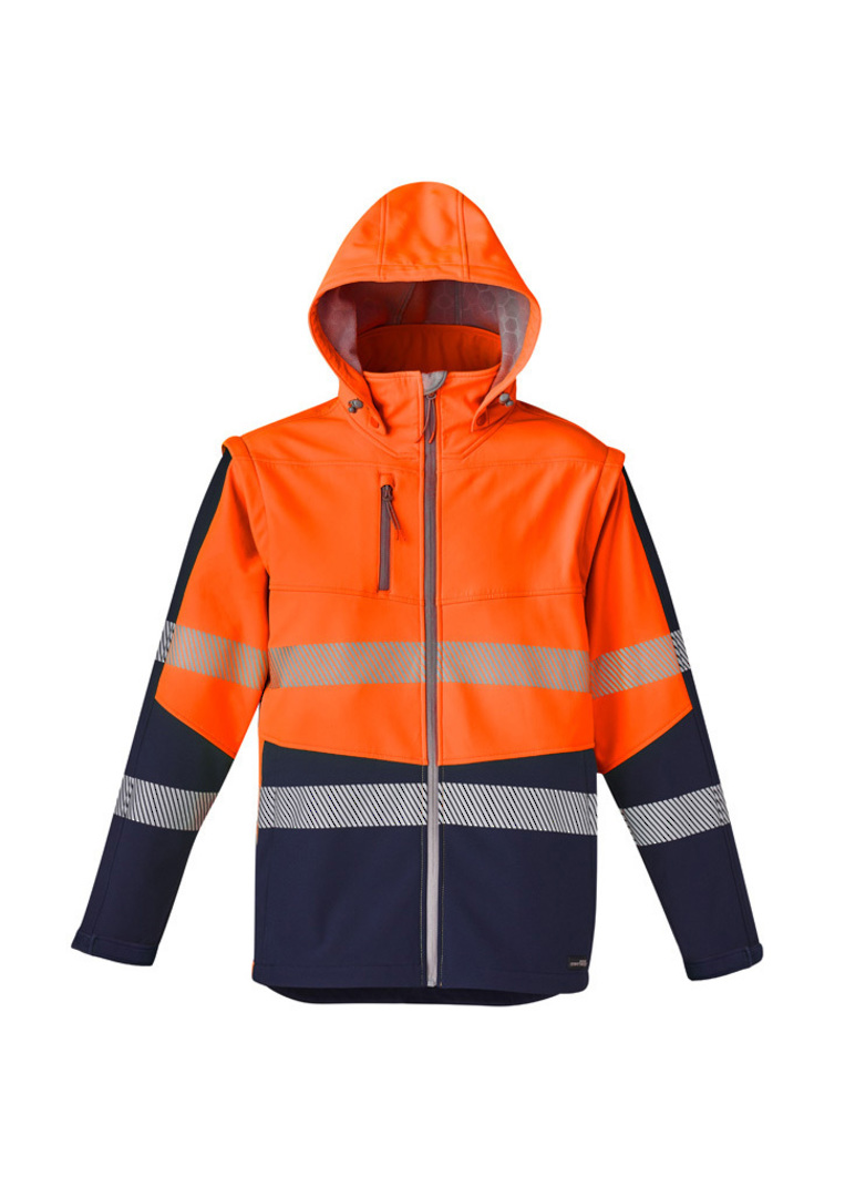 UNISEX 2 IN 1 STRETCH SOFTSHELL TAPED JACKET image 5