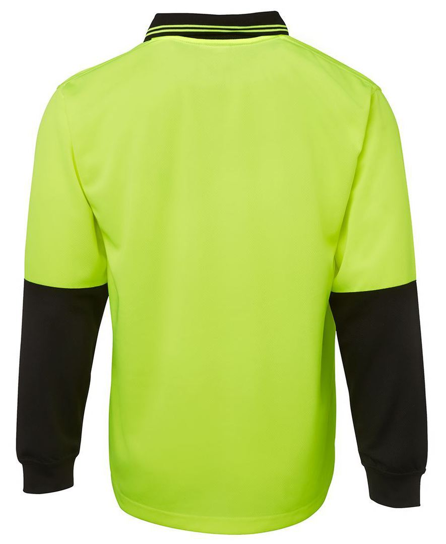 6HVPL Hi Vis L/S Traditional Polo image 2